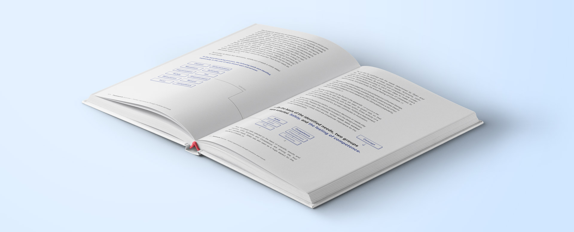 Book with sample pages about safety and competence